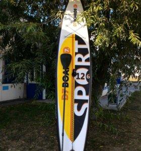 SUP борд D7 Boards Sport 12'6″ с карбоновым веслом