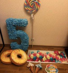 Цифра и другое для проведения детского дня рождени