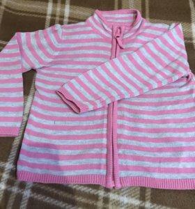Лонгсливы кофты на девочку 2-3 года