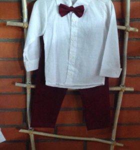 Костюм новый брюки и рубашка,2-3 года. 850 руб.