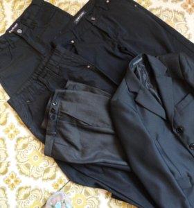 пакет брюк с новым пиджаком