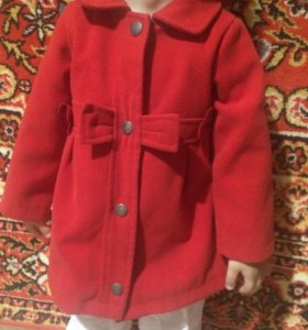 Пальто для девочки 86-92