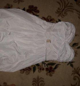 Шикарное платье ,цвет слоновая кость!