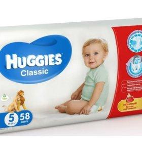 Подгузники Huggies Classic 5 (11-25 кг), 58 шт.