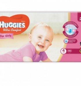 Подгузники Huggies Ultra Comfort для девочек 4