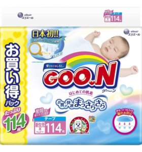 Подгузники Goo.N Ultra Jumbo Pack NB (0 до 5 кг),