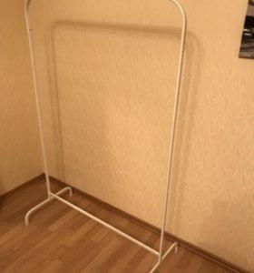 Напольная вешалка, белый, 99x46 см
