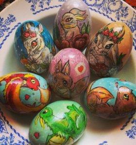 Роспись по дереву, пасха, пасхальные яйца