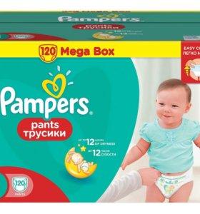 Подгузники-трусики Pampers Pants 3 (6-11 кг), 120