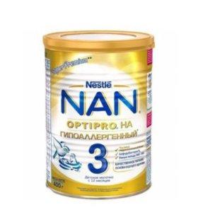 Смесь Nestle Nan OPTIPRO гипоаллергенный 3, 400 гр