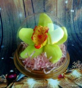 Орхидея в купола. Мыло ручной работы