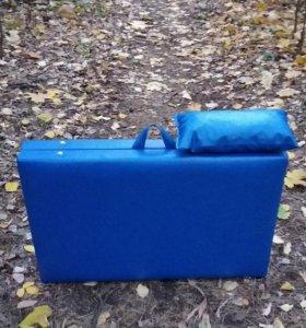 Массажный стол синего цвета, 180x60