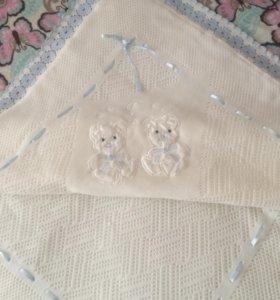 Плед одеяло конверт на выписку