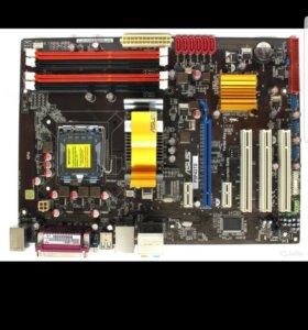Мать+проц Asus p5p43td и Core quad q9550