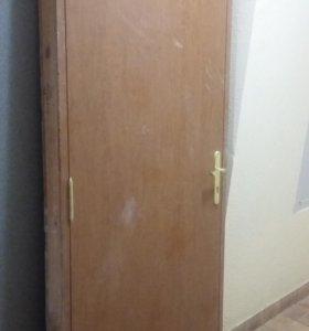 Дверь входная эко-шпон с замком 970*2080мм
