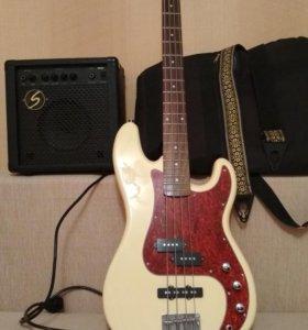 Бас гитара Ashtone AB-11 с комбиком