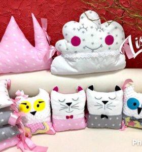 Бортики подушки -детское постельное