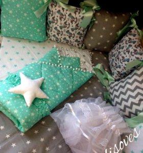 Бортики подушки( детское постельное)