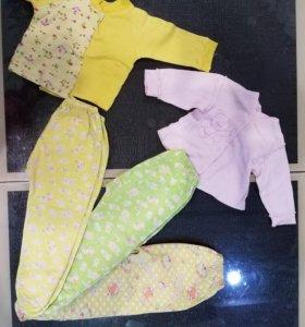 ползунки чепчик распашонки 3-6 мес.р.62-68