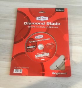 Диск алмазный tamo ф230 22,2мм diamond blade