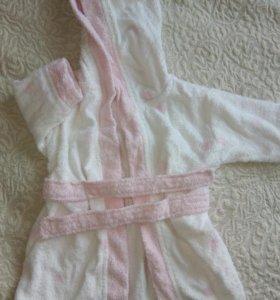 Халат для девочки от 2-6 месяцев