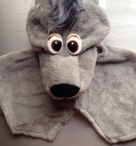 Новый новогодний костюм волка (шапка + манишка).