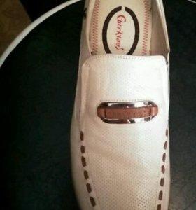Туфли мужские новые, натуральная кожа