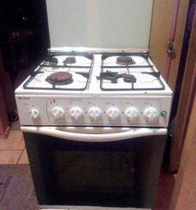 газовая плита с электро-духовкой INDESIT-б\у