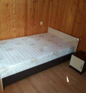 Кровать «Бася» 1.6м + тумба от тхм