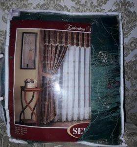 Новый комплект штор для зала и спальни.