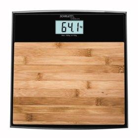 Напольные весы Scarlett SC-BS33E064 бамбук/черный