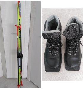 Продам лыжи комплектом