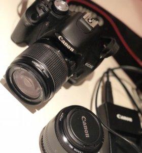 Фотоаппарат Canon 500D + портретный объектив 52мм