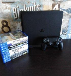 Продам PlayStation 4 Slim +9 игр