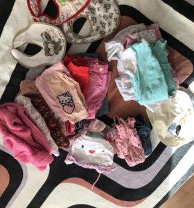 Пакет вещей на девочку 80, 86
