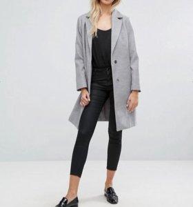 новое Строгое серое пальто , размер XL