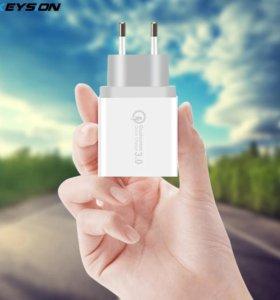 Зарядное устройство KEYSION 3 USB порта, QC 3,0