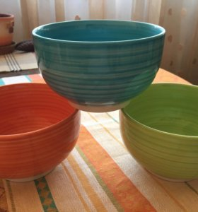 Керамические пиалки - салатницы - 3 штуки набор