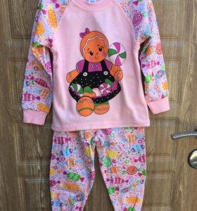 Пижама на девочку (трикотаж футер) 2,3,4,5л
