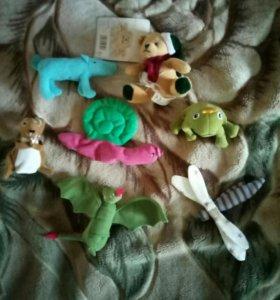 мягкие игрушки на пальчики