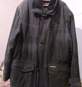 куртка-парка мужская. тёмный цвет.