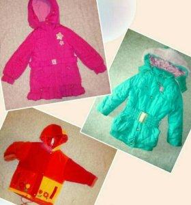Куртка зимняя и осень -весна,демисезон 5 лет