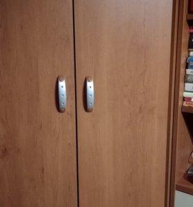 Шкаф угловой + пенал+ стол с полками