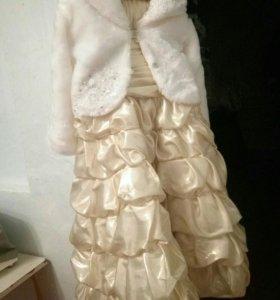 Нарядное платье, с шубкой