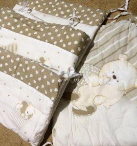 Комплект бортиков в кроватку,балдахин и кокон