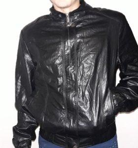 Черная куртка, экокожа, новая