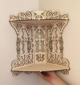 Иконостас деревянный (угловой)