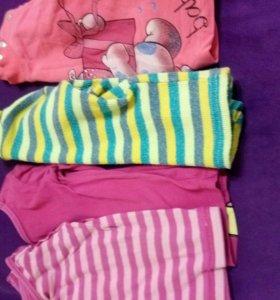 Вещи пакетом для девочки. Размер 1-1.5 года.