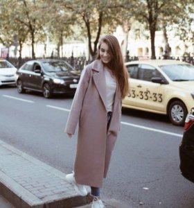 Кашемировое пальто осень