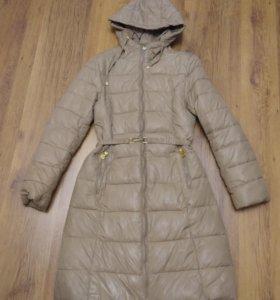 Удобная длинная куртка-пуховик-пальто